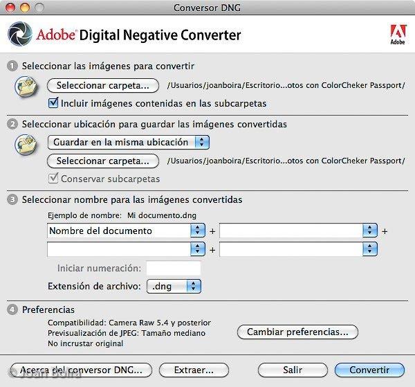 """conversor """"Adobe DNG Converter"""""""