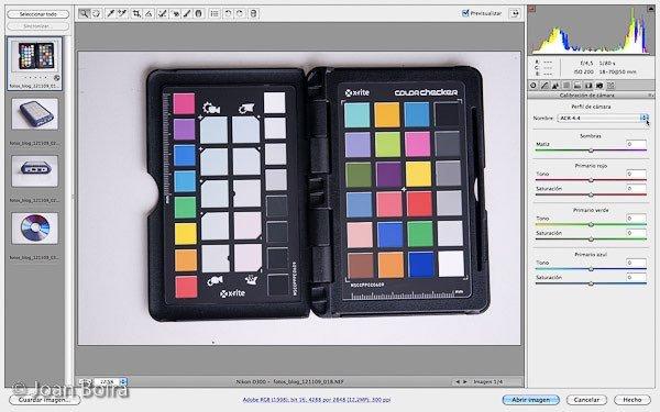 seleccionar-pestana-calibracion-de-camara Photoshop