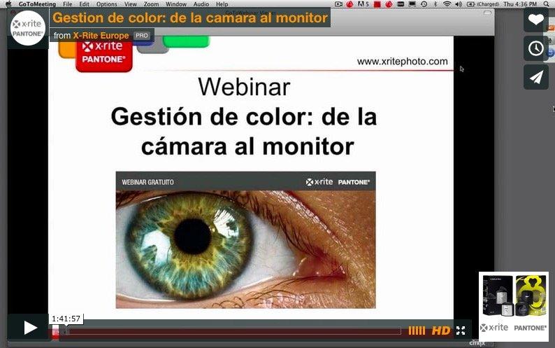 Vídeo del curso de la cámara al monitor