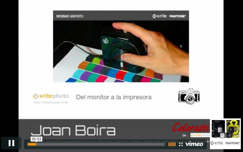Vídeo del curso del monitor a la impresora