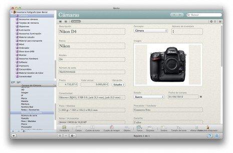 Organización de material – Inventario del fotógrafo