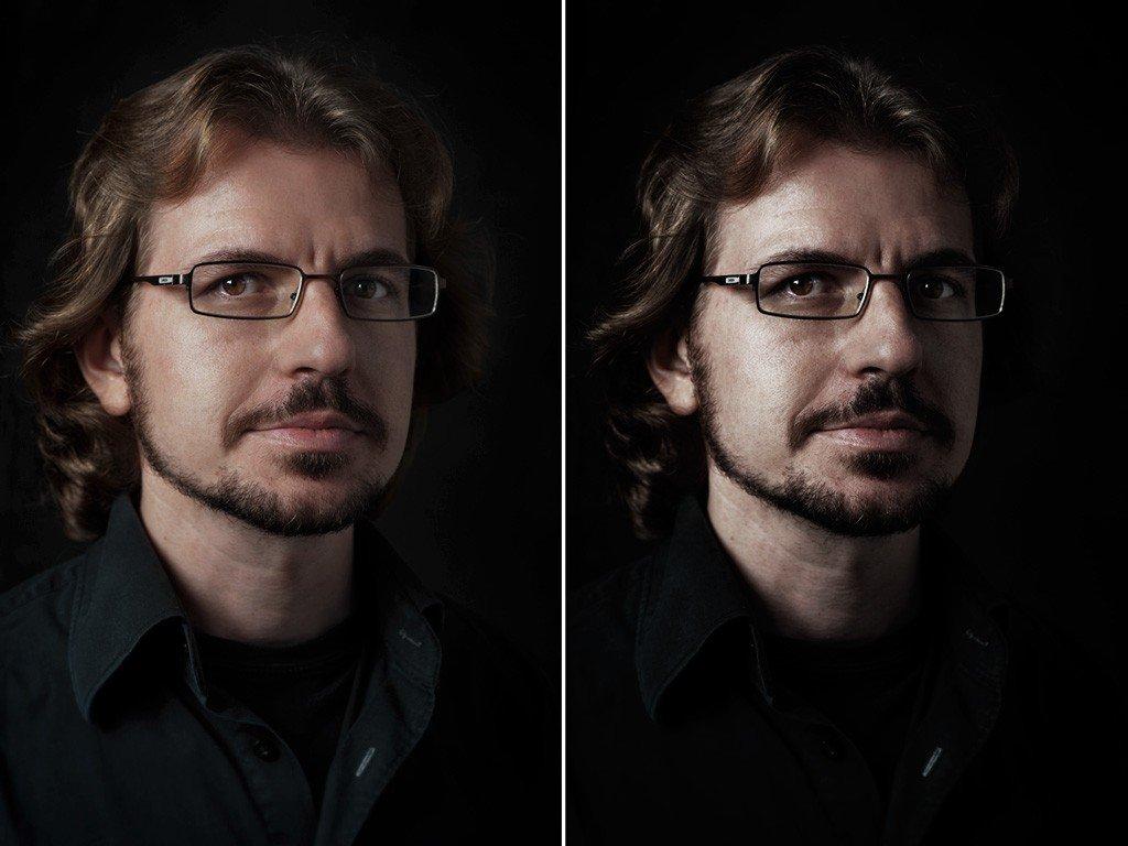 Efecto retoque retrato