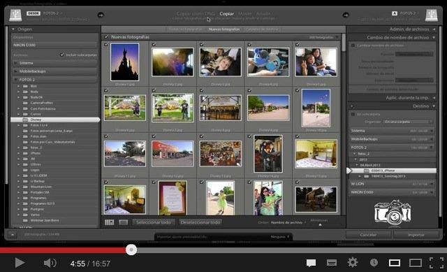 Lightroom: Cómo importar fotografías. Videotutorial