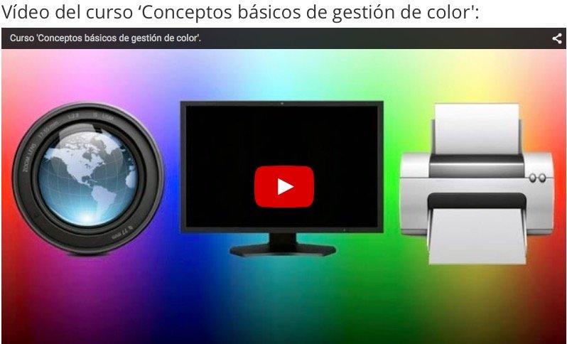 Curso 'Conceptos básicos de gestión de color'
