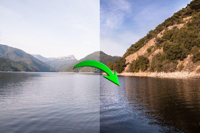 Cómo revelar una fotografía de paisaje
