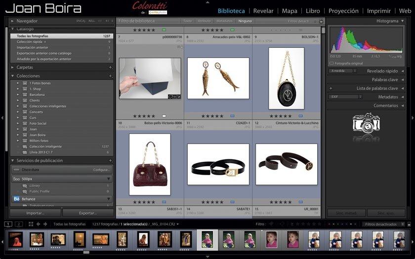 Método rápido para organizar las fotografías en Lightroom