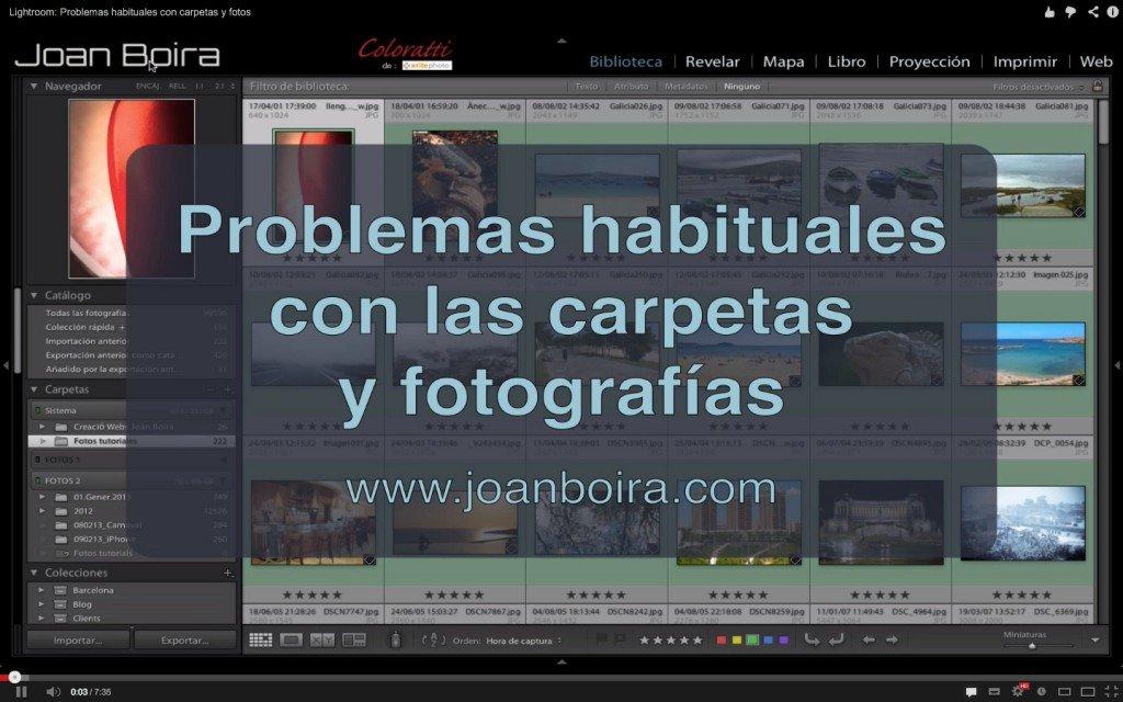 Lightroom: Problemas habituales con carpetas y fotos (Videotutorial)