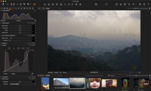 Capture One Pro 9. Curva Luma