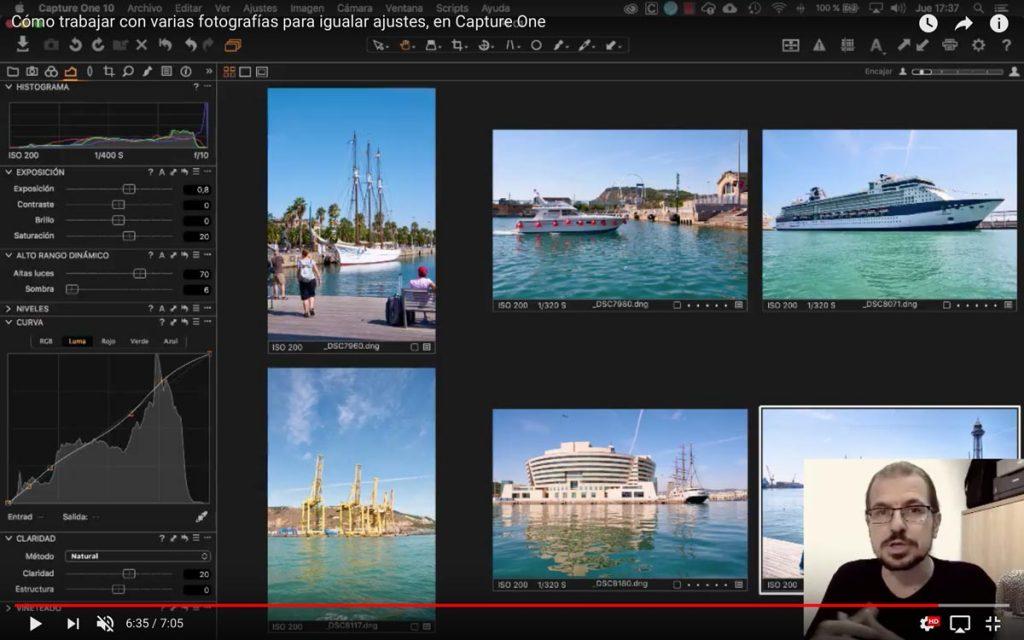Cómo trabajar con varias fotografías para igualar ajustes, en Capture One