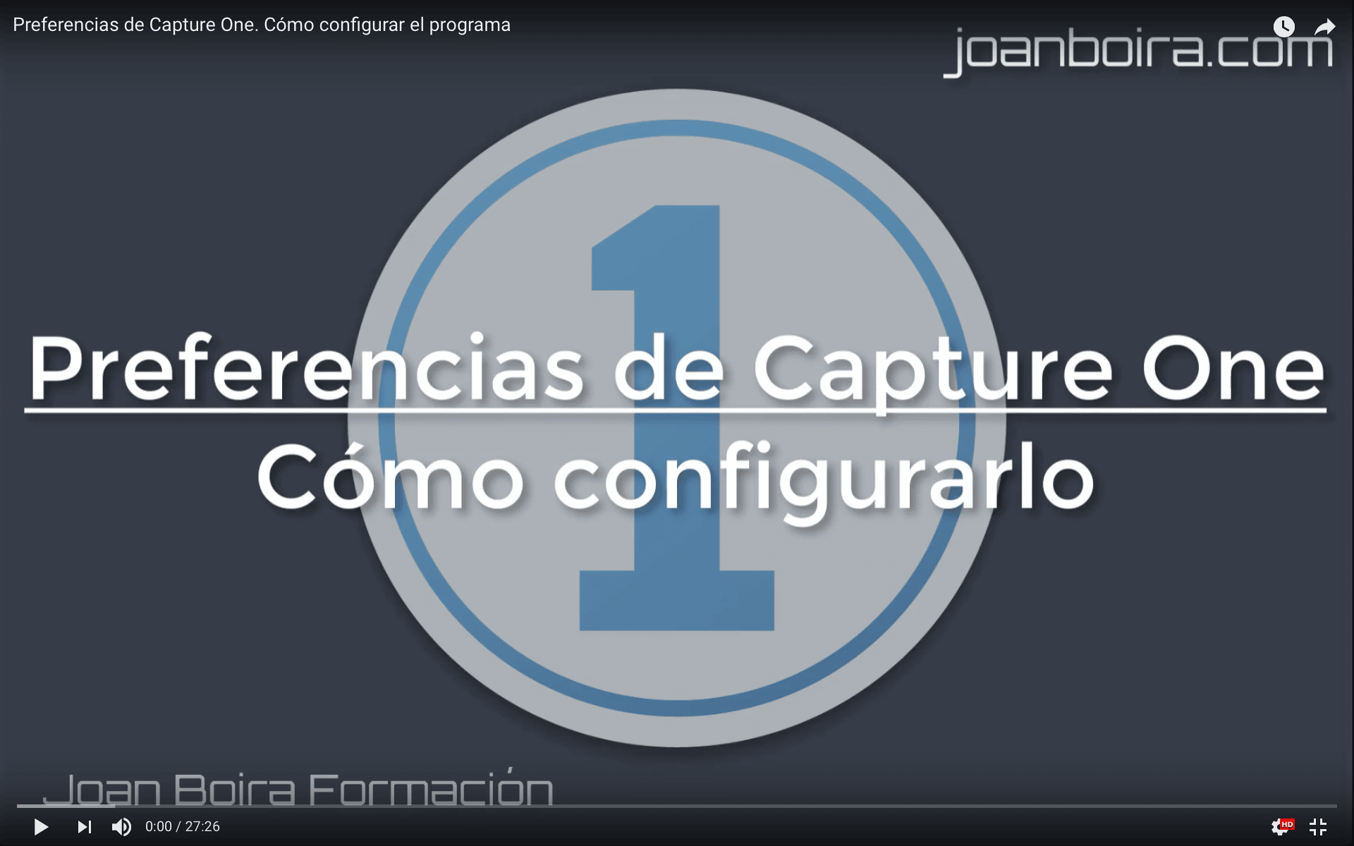 Preferencias de Capture One. Cómo configurar el programa