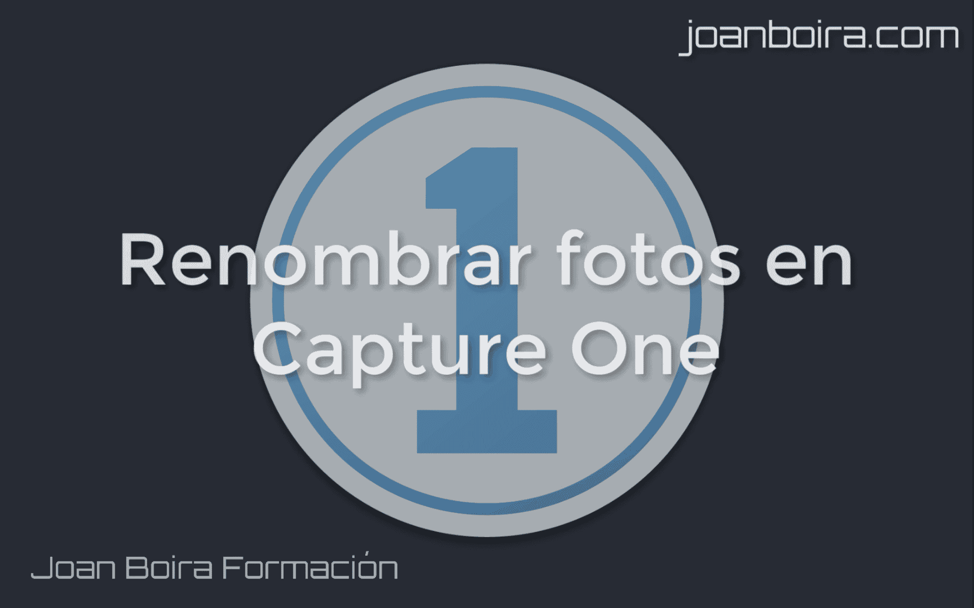 Renombrar fotografías en Capture One
