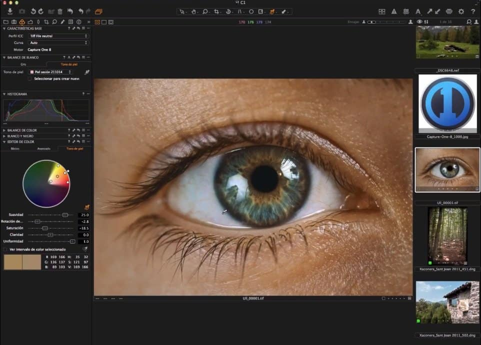 Capture One: Ajustes de color y editor de color
