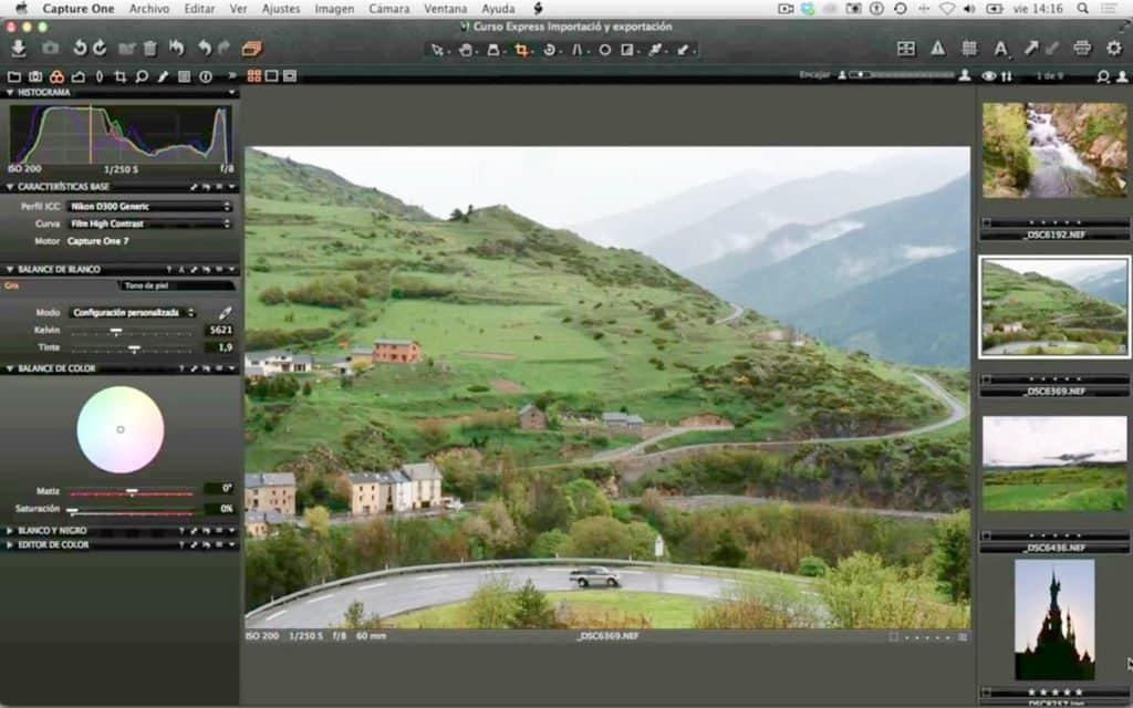 Capture One: Herramientas para ajustar fotografías