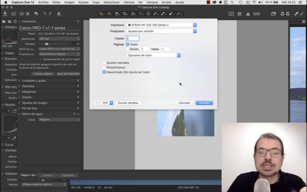 Capture One: Cómo imprimir en alta calidad