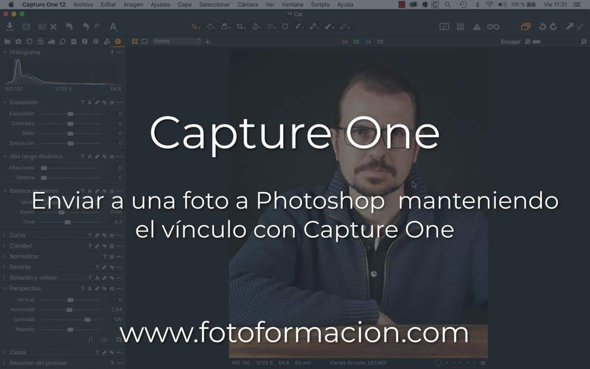 Capture One: Enviar a una foto a Photoshop