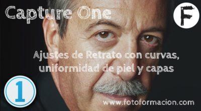 Capture One: Ajustes de Retrato con curvas, uniformidad de piel y capas