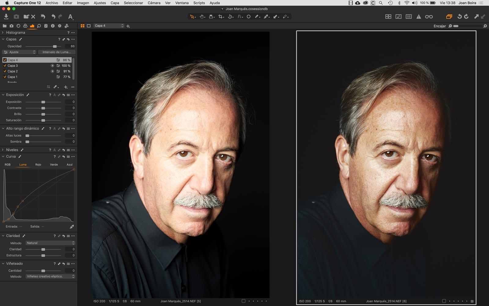 Retrato avanzado con Capture One