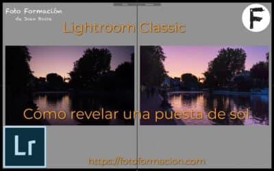 Cómo revelar una puesta de sol con Lightroom classic
