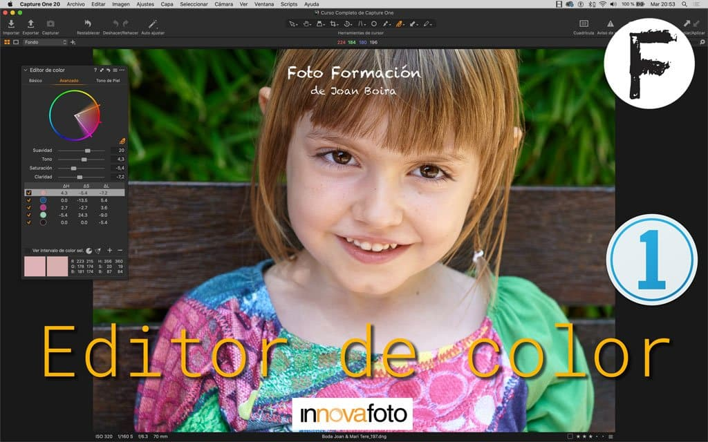 Editor de Color en Capture One 20