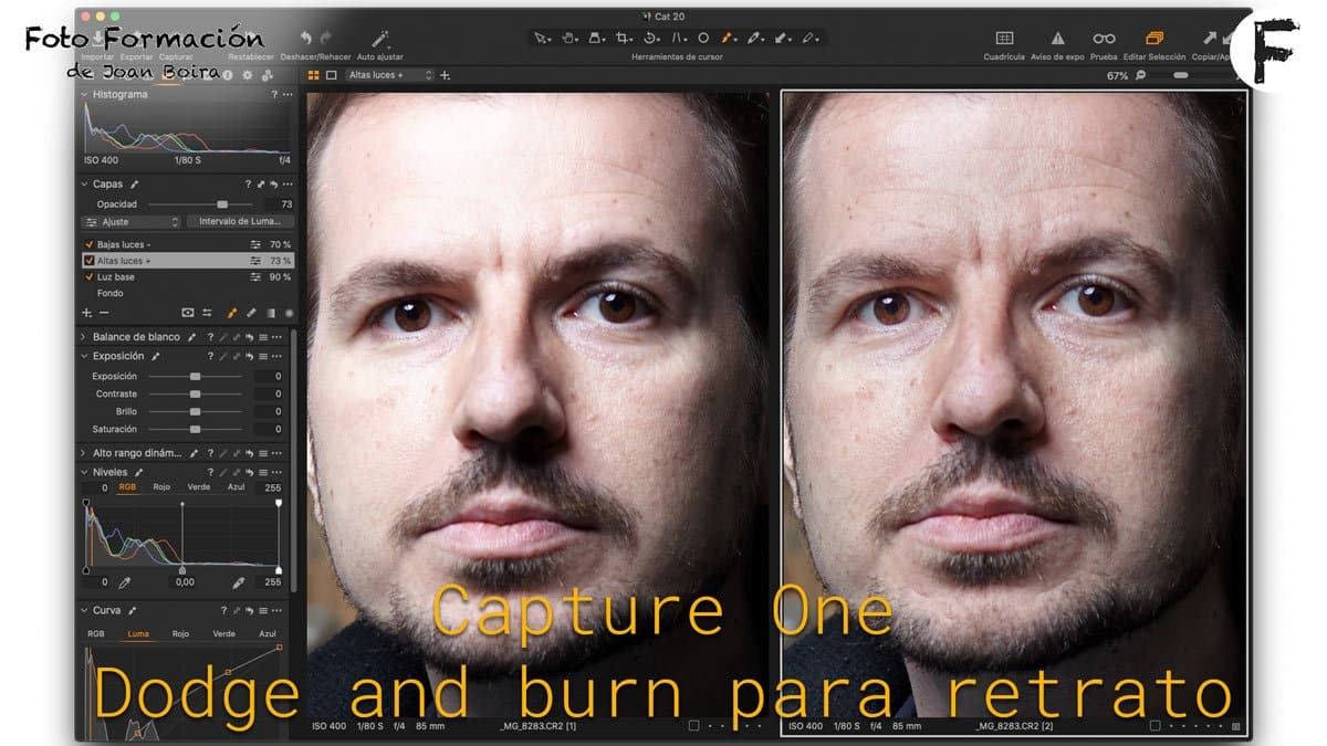 Capture One: dodge and burn para retrato