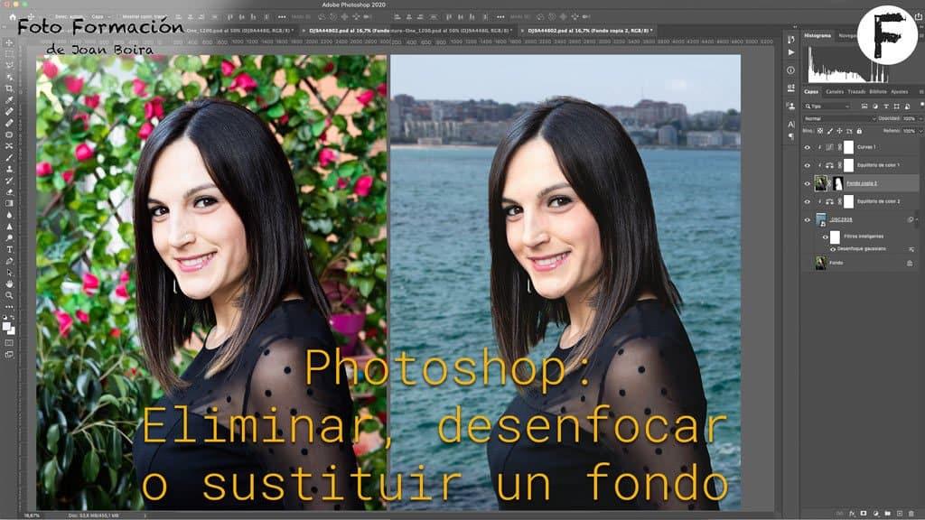 Photoshop: Eliminar, desenfocar o sustituir un fondo