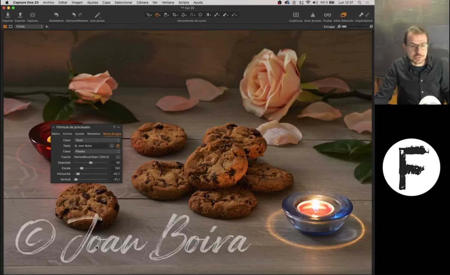 Crear marcas de agua y aplicar en Lightroom, Capture One y Photoshop