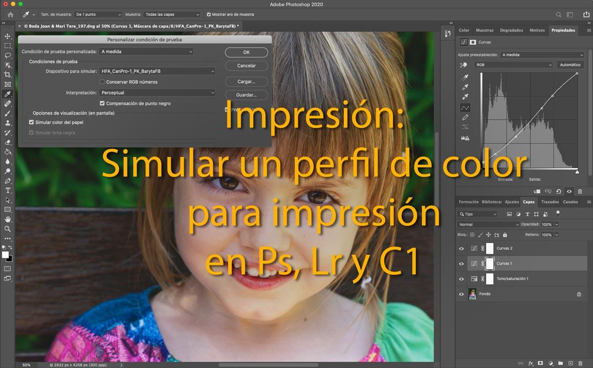 Impresión: Cómo simular un perfil de color para impresión en Lightroom, Capture One y Photoshop