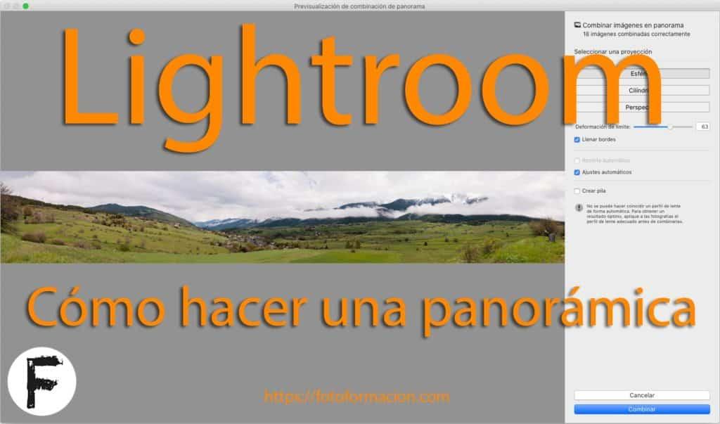 Lightroom: Cómo hacer una panorámica
