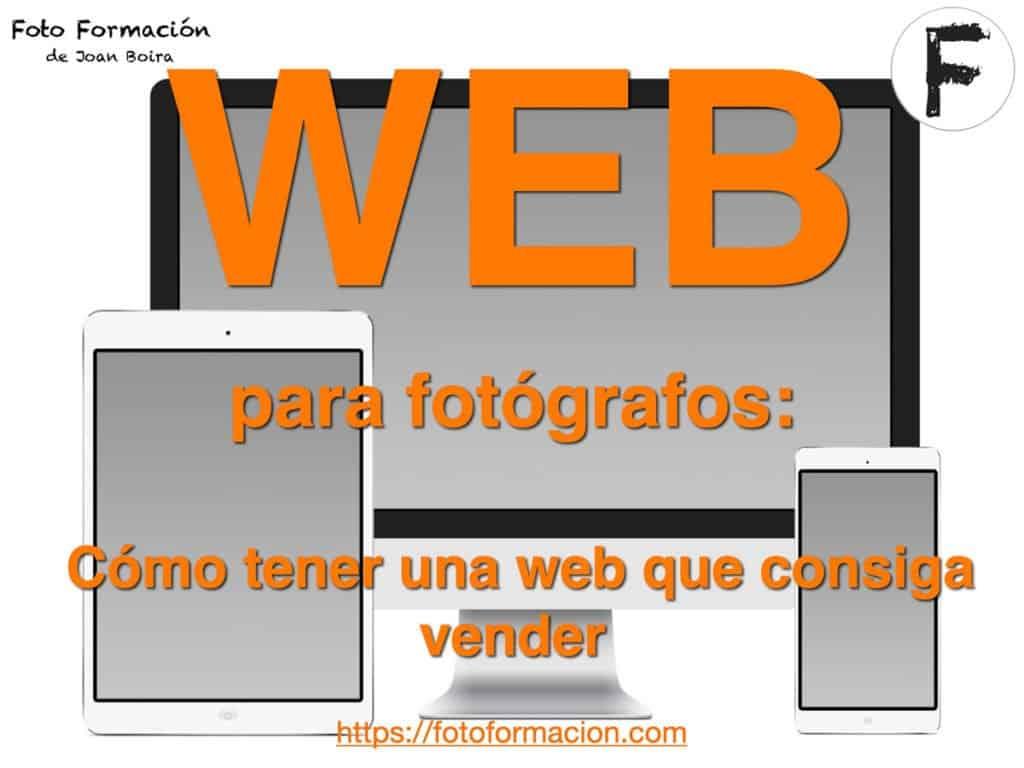 Web para fotógrafos. Cómo tener una web que consiga vender