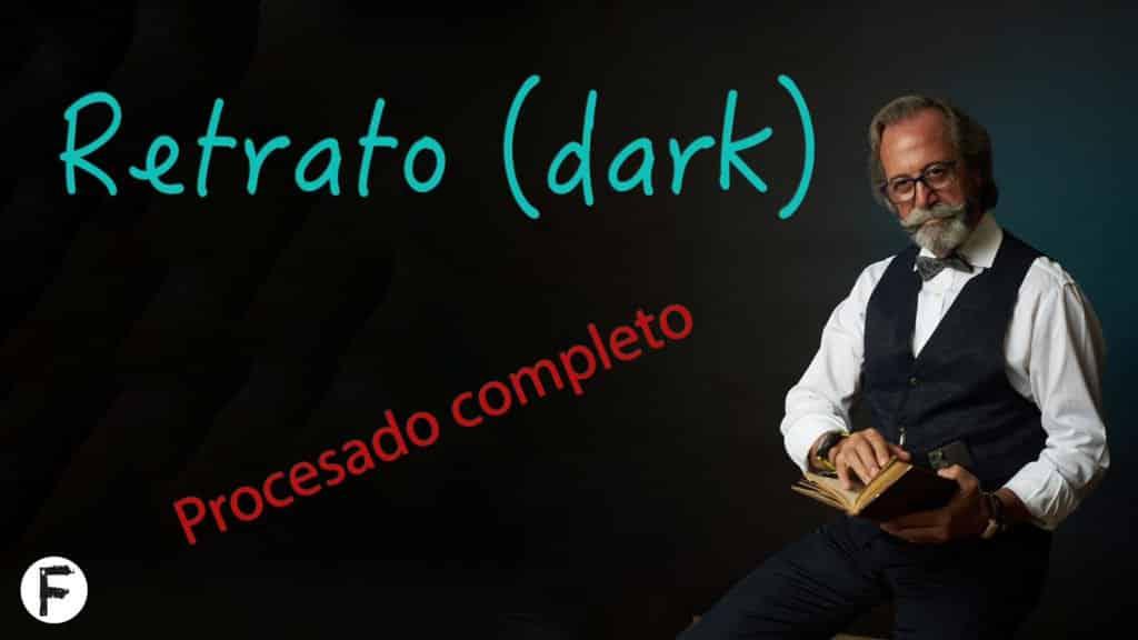 Retrato Dark. Procesado completo en CAPTURE ONE 20. Sistema de trabajo POR CAPAS