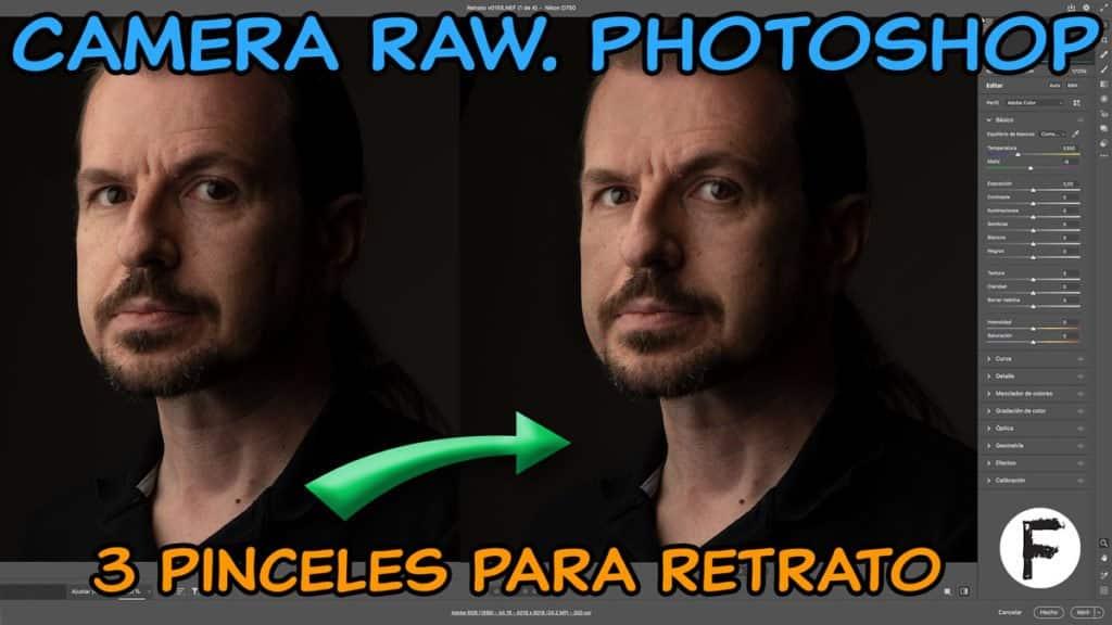 Camera Raw de Photoshop. 3 pinceles para piel en retrato